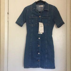 Zara Denim Button Down Dress